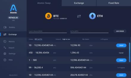 Atomic Wallet habilitará intercambios atómicos para Ethereum y Bitcoin Cash en las próximas semanas