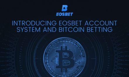 EOSBet impulsa la adopción con el lanzamiento de sistema de cuentas y apuestas de Bitcoin