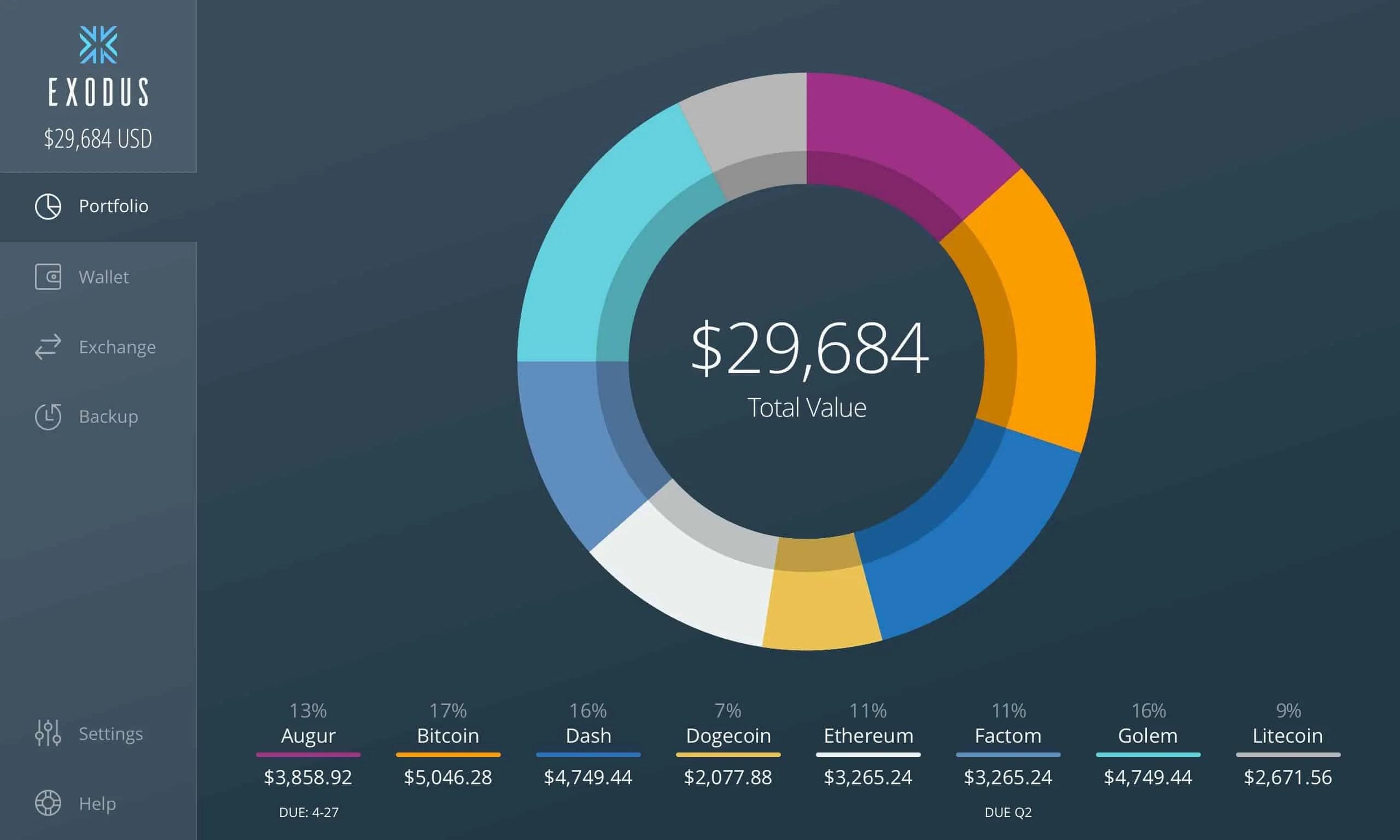 Exodus Wallet per desktop Multi-Asset 8 exodus portafolio wallet