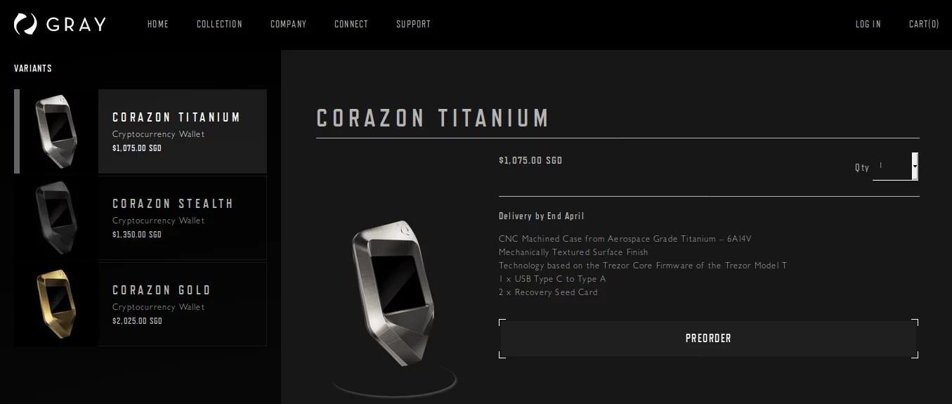 Trezor y Gray presentan Hardware wallets de lujo