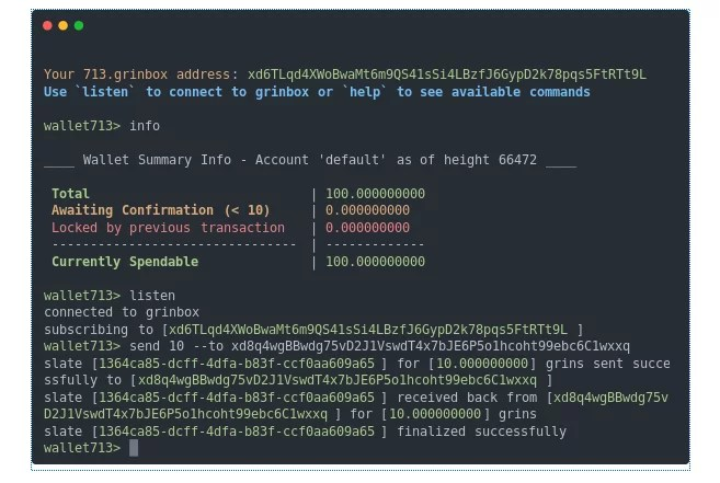 wallet713 - Una wallet CLI simplificada para Grin