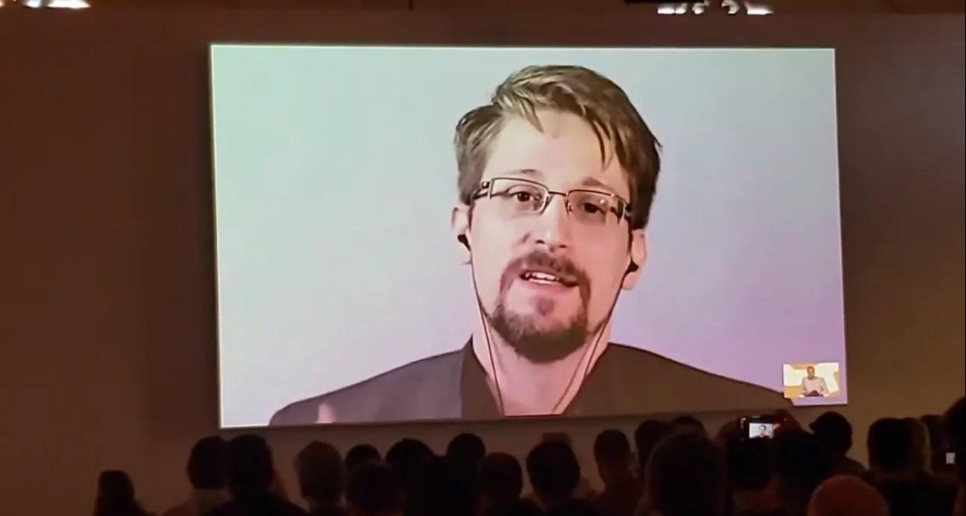 Presentación de Snowden en Bitcoin 2019 San Francisco
