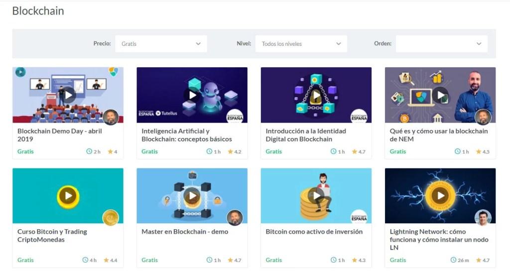 Cursos gratis de bitcoin y blockchain por tutellus