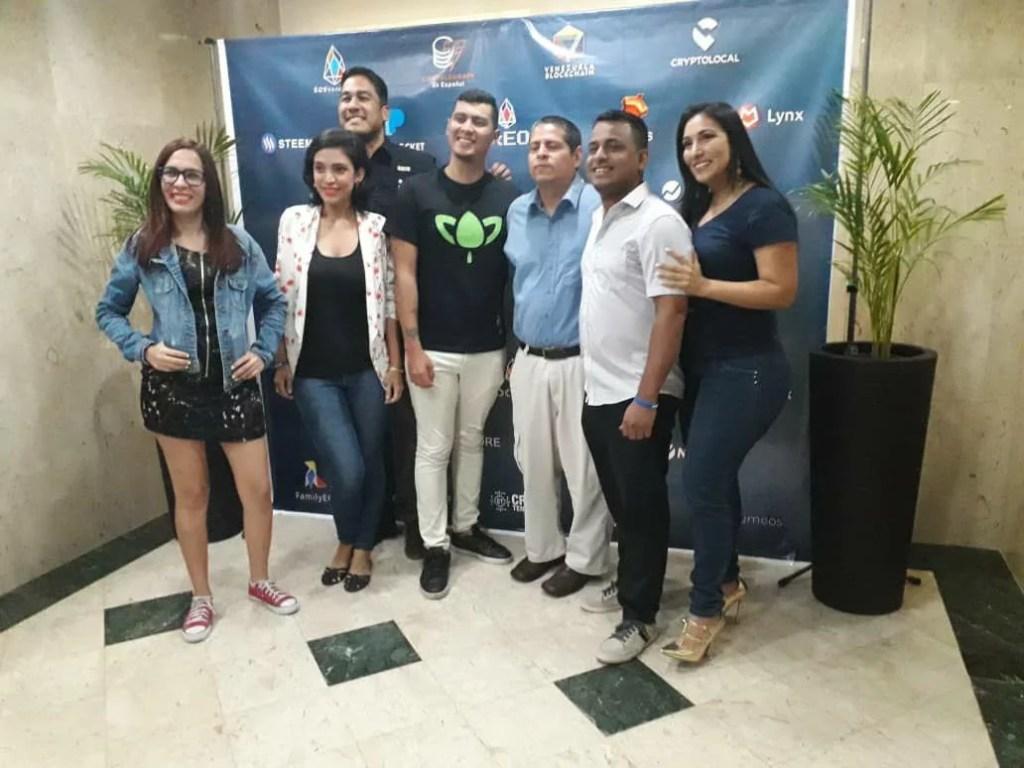 Expositores del evento Venezuela Blockchain
