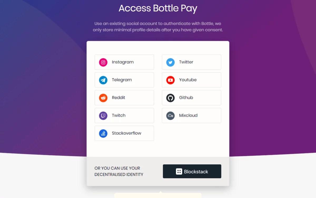 Bottle Pay permitirá transacciones con bitcoin en las redes sociales
