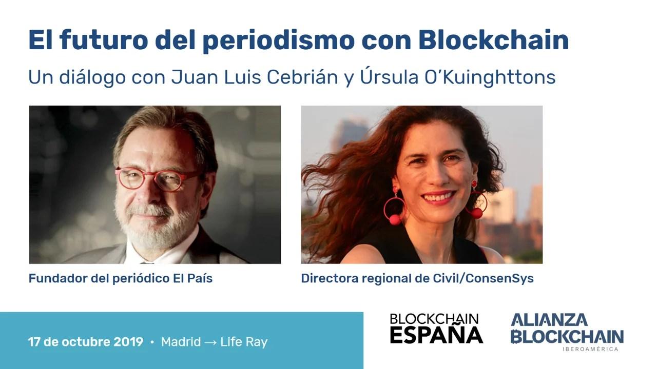 Meetup ConsenSys y El País para hablar del impacto de la blockchain en medios de comunicación y la democracia