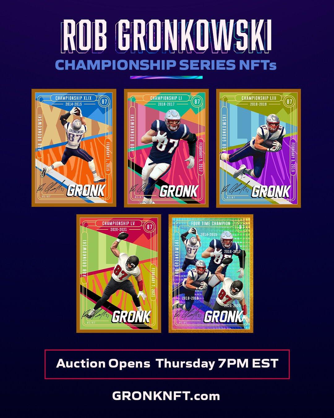 Rob Gronkowski, estrella de la NFL, lanza serie de coleccionables NFT