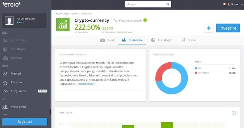 Investire nel Bitcoin con eToro