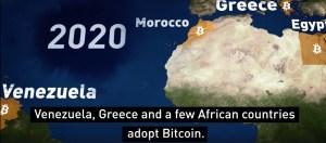 2020 Venezuela, Grecia e alcuni paesi africani adottano il Bitcoin