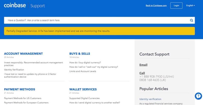 Coinbase Supporto Clienti