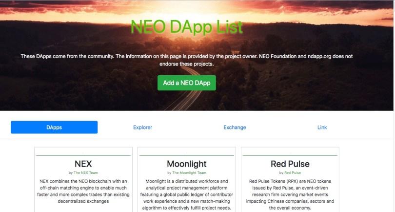 NEO Dapps
