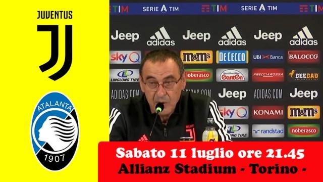 Conferenza stampa di Maurizio Sarri, presenta Juventus-Atalanta. Si gioca scudetto e credibilità. Non solo l'allenatore