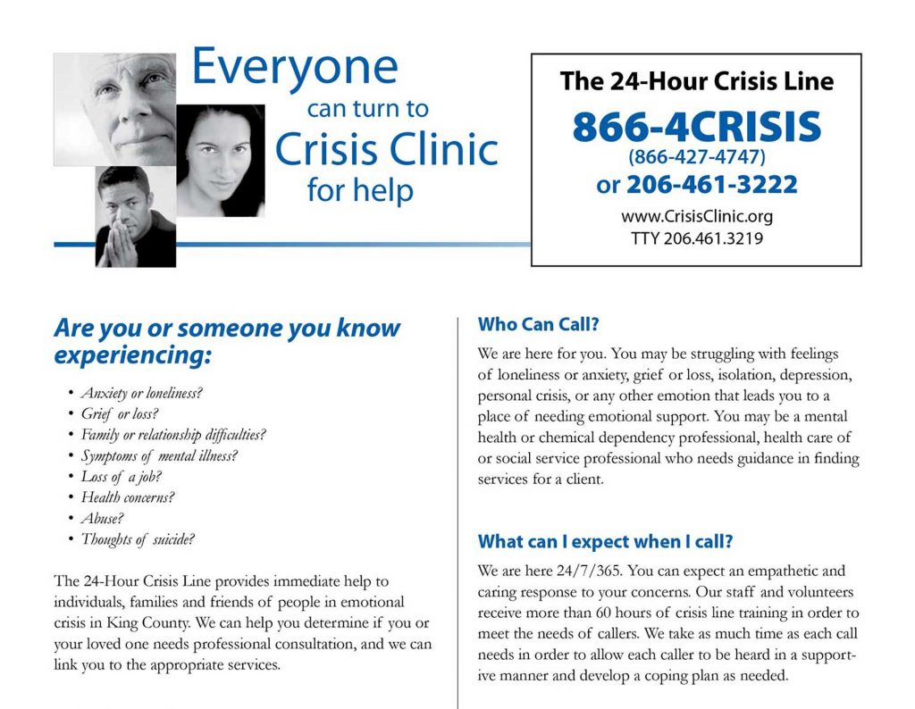 Crisis Line Fact Sheet