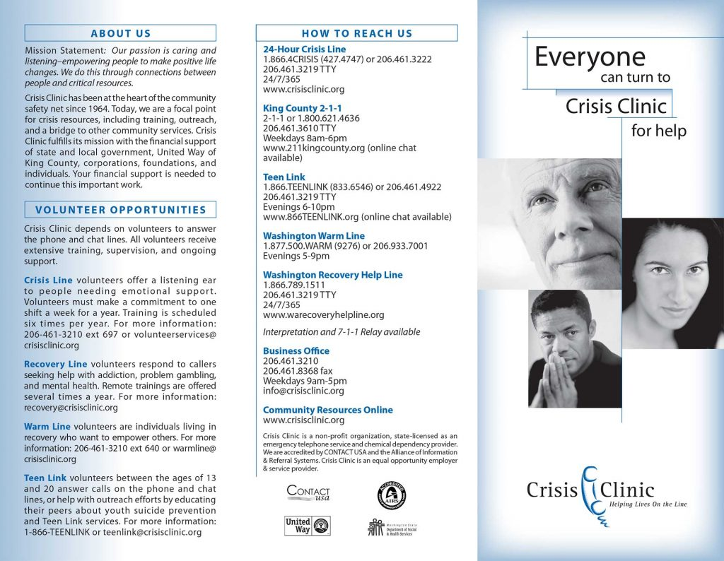 Crisis Clinic English Brochure