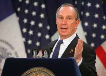 Description=New York City Mayor Michael Bloomberg delivers his budget address in the Blue Room at City Hall on January 27, 2005. REUTERS/Craig Warga/Pool