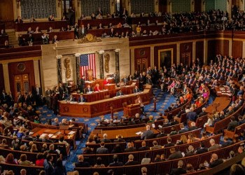 View, from the balcony, of congressmen and congresswomen on the house floor as the 115th Congress is called into session on its opening day, Washington DC, January 3, 2017. (Photo by Mark Reinstein/Corbis via Getty Images)