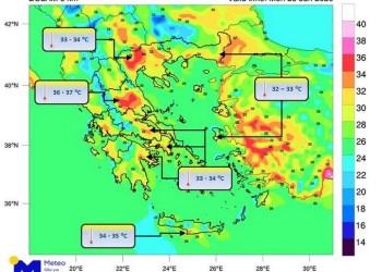 Μίνι καύσωνας στην Ελλάδα, στους 39 βαθμούς το θερμόμετρο 26