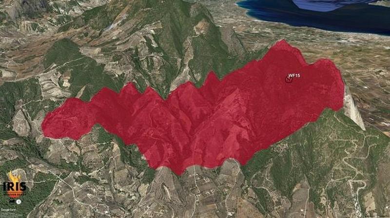 Πυρκαγιές σε Κεχριές και Πεταλίδι – Ενεργοποιήσεις του προγνωστικού συστήματος IRIS 25