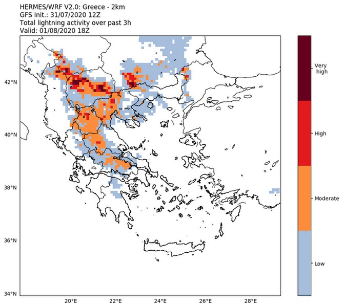 Καιρός: Υψηλές θερμοκρασίες αλλά και τοπικά ισχυρές καταιγίδες το Σάββατο 01/08 25