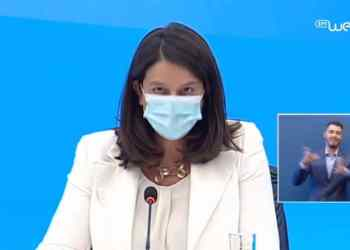 Η υπουργός Υγείας, Νίκη Κεραμέως