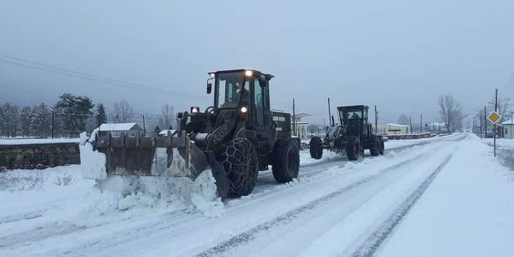 Χιόνια, στρατιωτικά οχήματα του μηχανικού