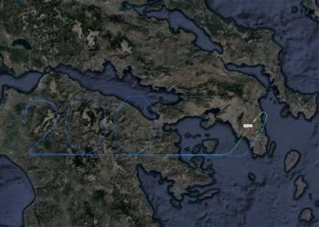 Ένα αεροσκάφος της Aegean σχημάτισε τον αριθμό 200, σύμβολο της φετινής επετείου στα 20.000 πόδια