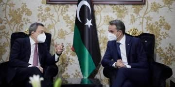 Συνάντηση Ντράγκι-Μητσοτάκη στη Λιβύη
