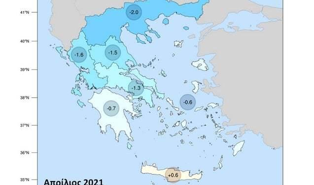 Meteo: Πολύ χαμηλές θερμοκρασίες στη Βόρεια και Δυτική Ελλάδα