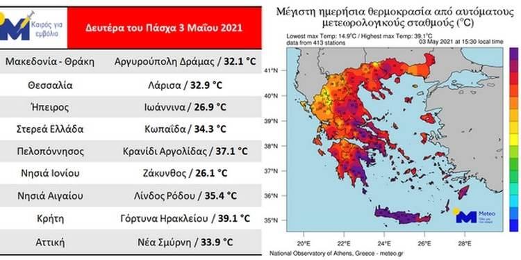 Meteo: Πρόωρος καύσωνας στην Ελλάδα
