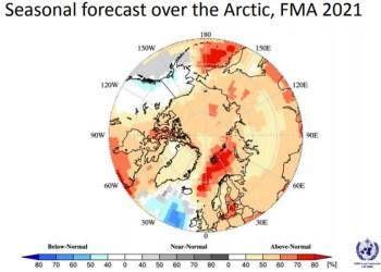 WMO: Θερμότερο από το κανονικό στην Αρκτική
