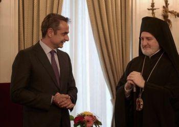 Κυριάκος Μητσοτάκης και αρχιεπίσκοπος Ελπιδοφόρος