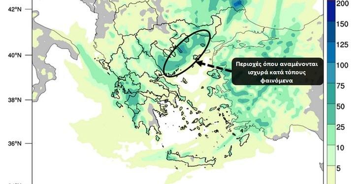 Βροχές και καταιγίδες σημειώνονται από την αρχή του εικοσιτετραώρου της Τρίτης 12/10 στα δυτικά και βορειοανατολικά τμήματά της χώρας.