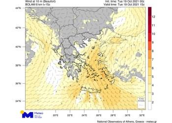 Μετεωρολογικός χάρτης ανέμων, Meteo.gr