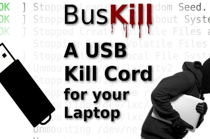 Cablul USB care șterge sistemul Linux, dacă laptopul este furat