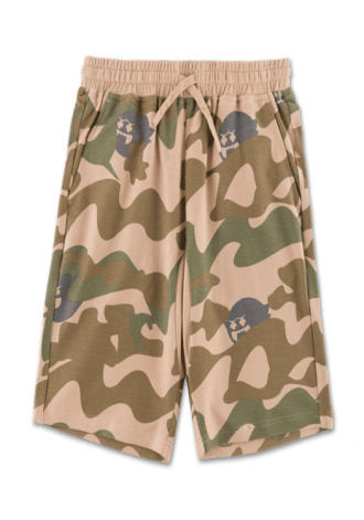 PINK DOLPHIN Ghost Camo Short in Olive