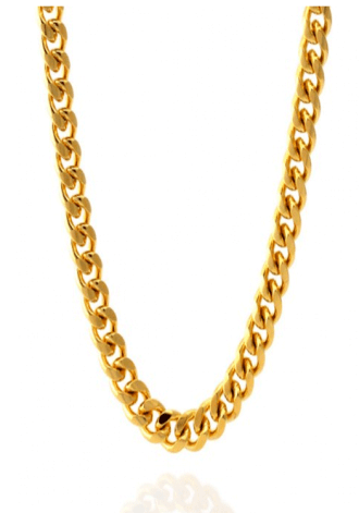 KING ICE 12MM 14K Gold Miami Cuban Curb Chain