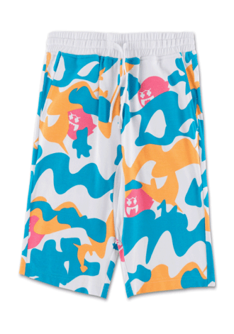 PINK DOLPHIN Ghost Camo Short in White