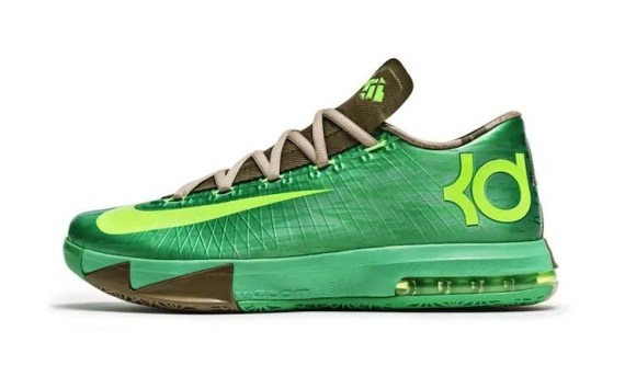buy popular e1933 6e4ea Kevin Durant went through China in his 2013 Basketball Tour. The Nike KD VI   Bamboo  were launched in Shanghai, and serve as a tribute to Asian culture.