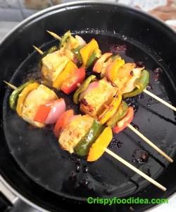 Frying the Panner tikka on Pan