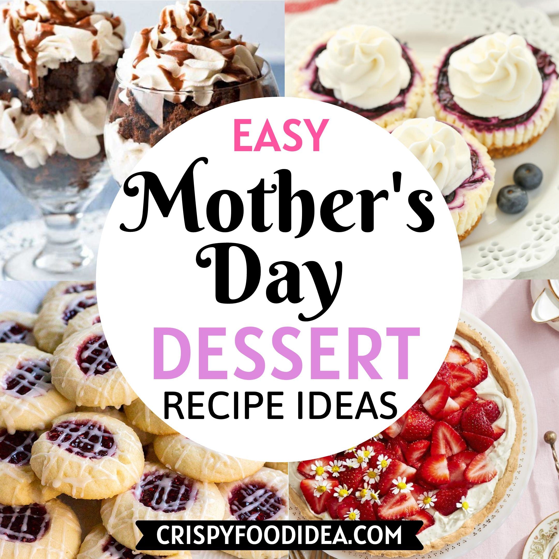 Mother's Day Dessert Recipes.