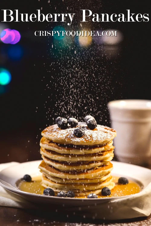 Keto Blueberry Pancakes with Almond Flour