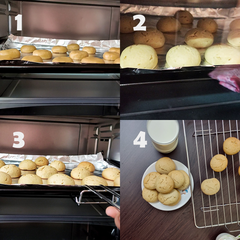Bake the cookies in oven