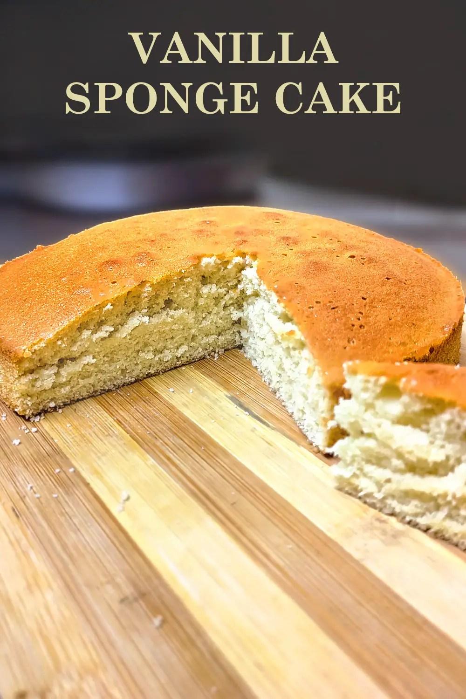 Basic Sponge Cake | Vanilla Cake