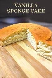 Basic Sponge Cake   Vanilla Cake