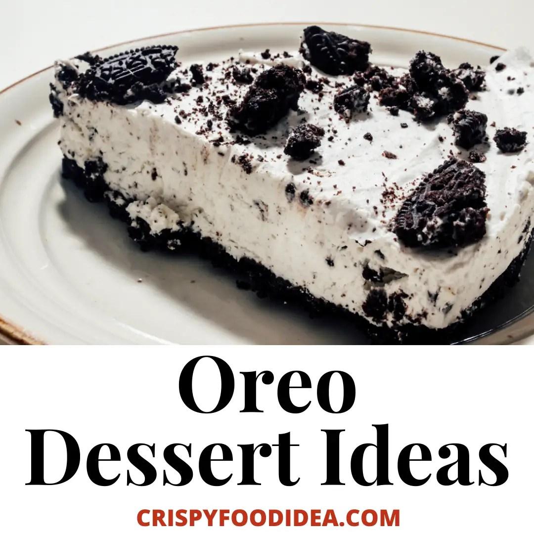 oreo dessert ideas