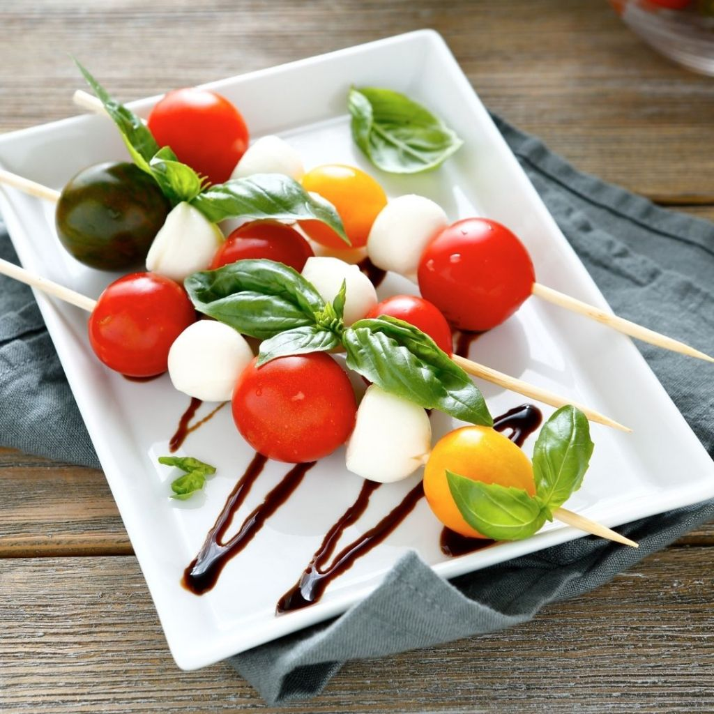 Caprese Salad on a Stick - healthy meals for outdoor activities
