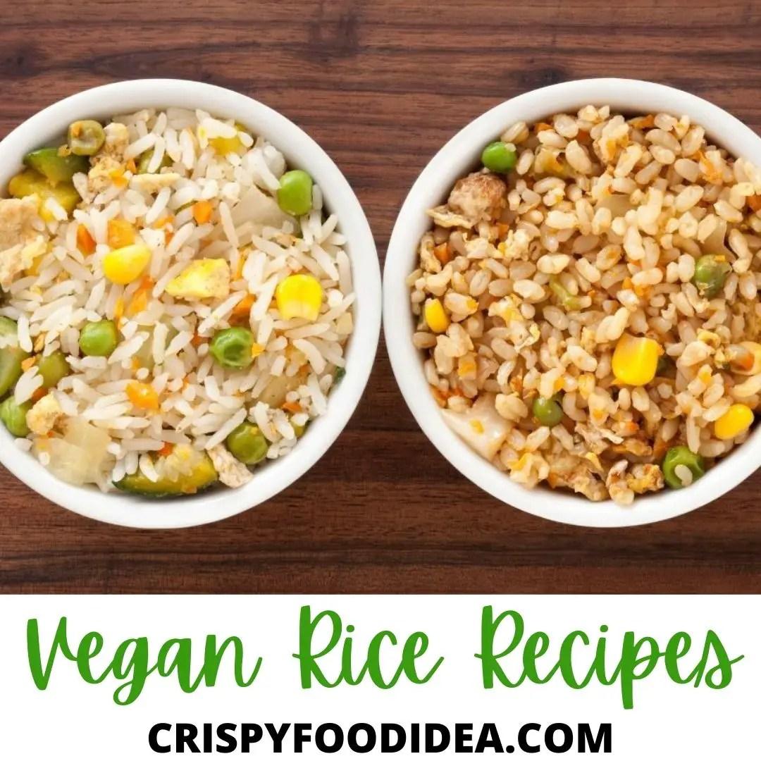 vegan rice recipes