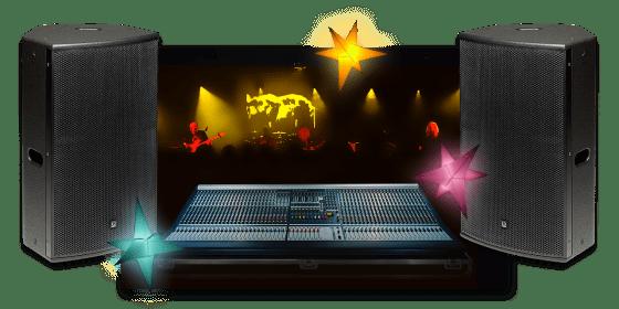 Cristal Audio Pro : prestations scéniques audio, vidéo, éclairage