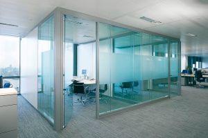 Mamparas de cristal para oficina 1