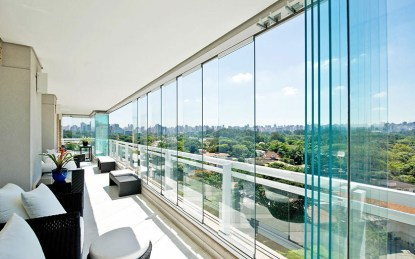 cortinas de cristal plegable